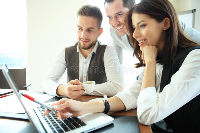 Business People Working Teamwork Cooperation Conference. royalty free stock photography
