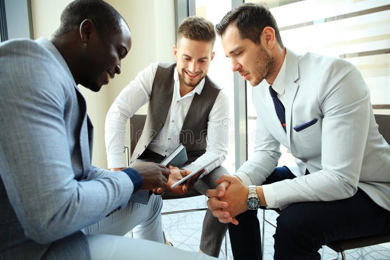 Business People Working Teamwork Cooperation Conference. Business People Working Teamwork Cooperation Conference - business concept stock images