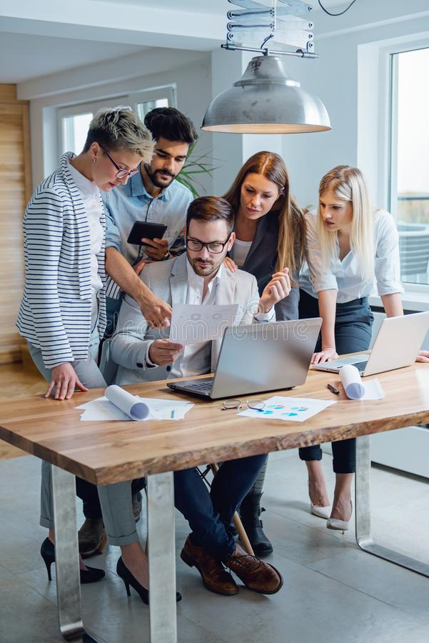 Business people working together as a team royalty free stock photo