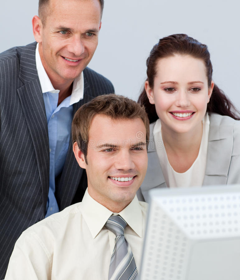 Business People Working Together With A Computer Royalty Free Stock Photography