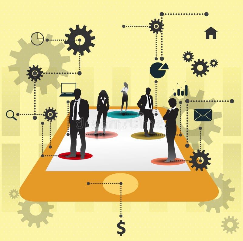 Business people working together.Cooperation concept design. vector illustration