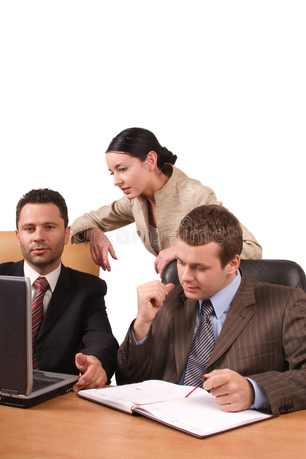 Business people working together in the office royalty free stock photo