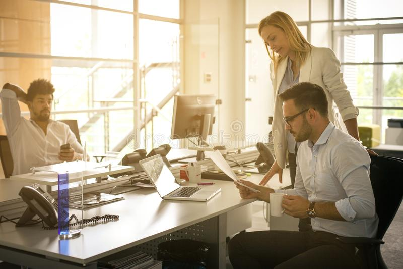 Business people working Business people together in office. Coll royalty free stock photography