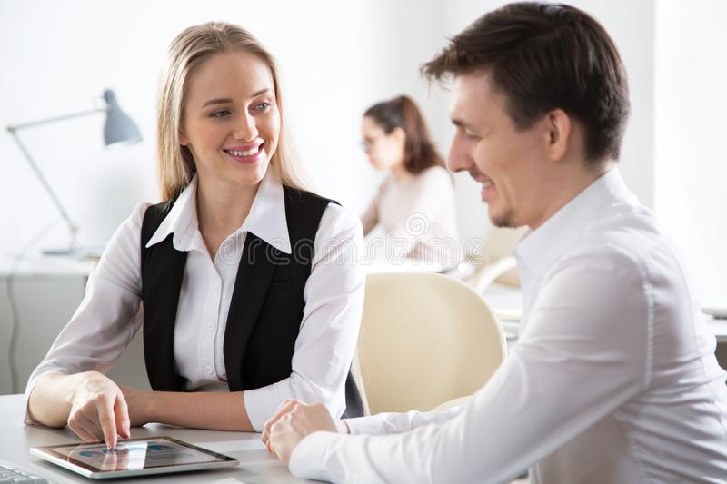 Business people working together in the office royalty free stock images