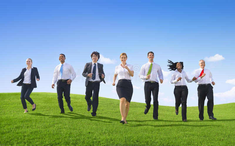 Business People with yhe way forward! stock photography
