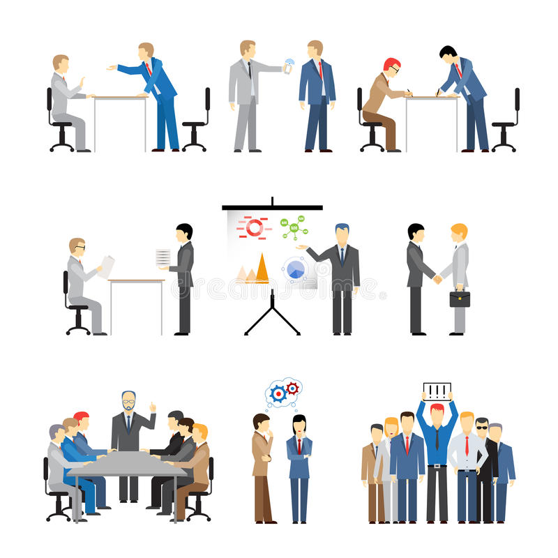 Free Business Peoples In Different Poses Stock Photo - 40826460