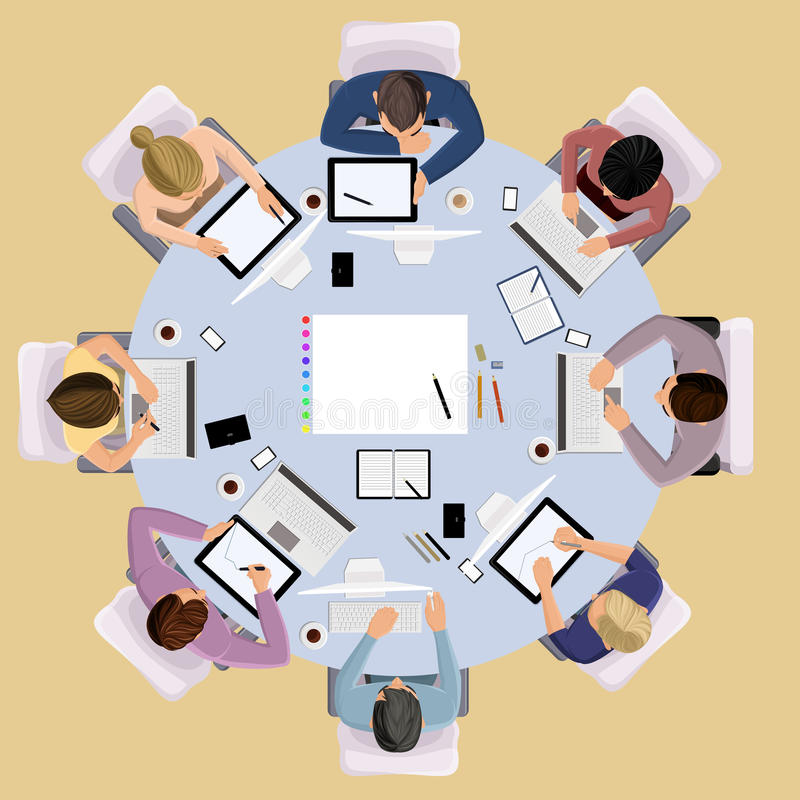 Business peoples stock illustration