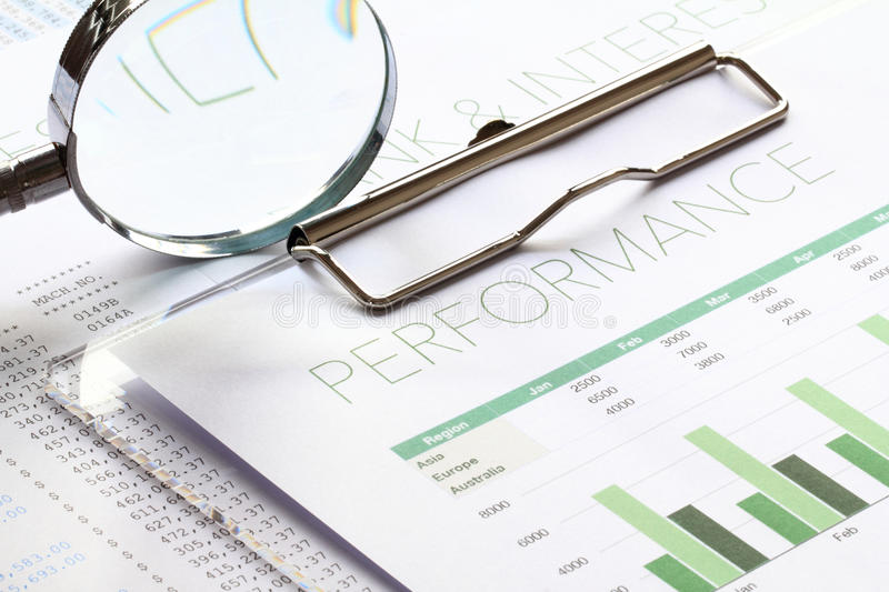 Business Performance Analysis Stock Image  Image Of News Profits