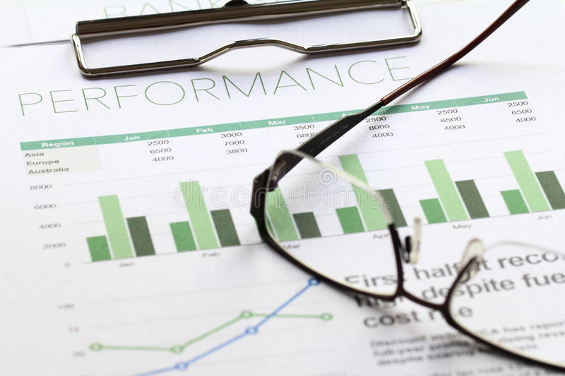 Business Performance Analysis Stock Photo  Image Of Finance Figure