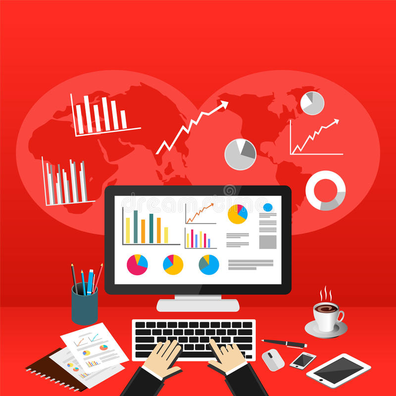 Free Business Person Analyzes Data Economy Statistics. Business Statistics Concept Royalty Free Stock Photo - 83348295
