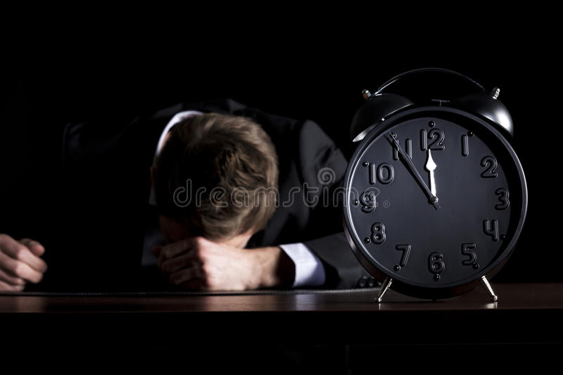 Business Person Being Close To The End. Stock Image