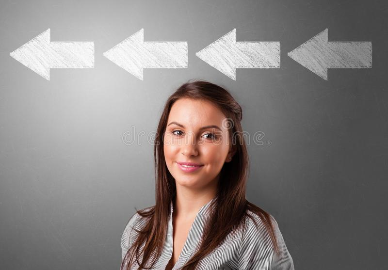 Business person choosing direction royalty free stock image