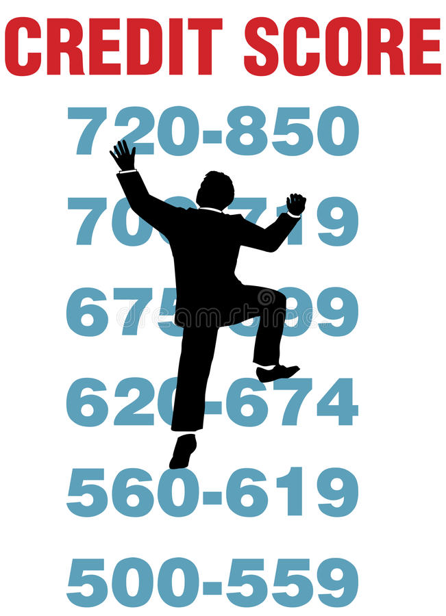 Download Business Person Climb Better Credit Score Stock Vector - Image: 22322597