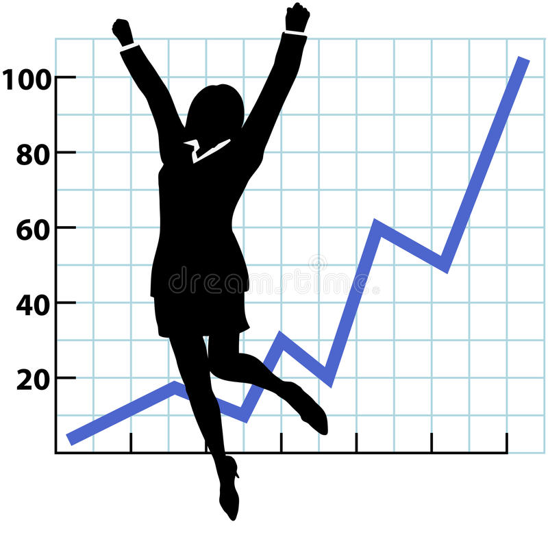 A Business Person Growth Success Chart vector illustration