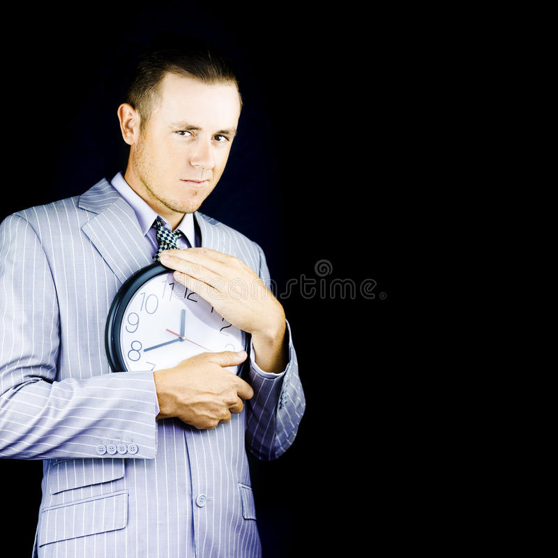 Download Business Person Hugging Clock Stock Images - Image: 24364294