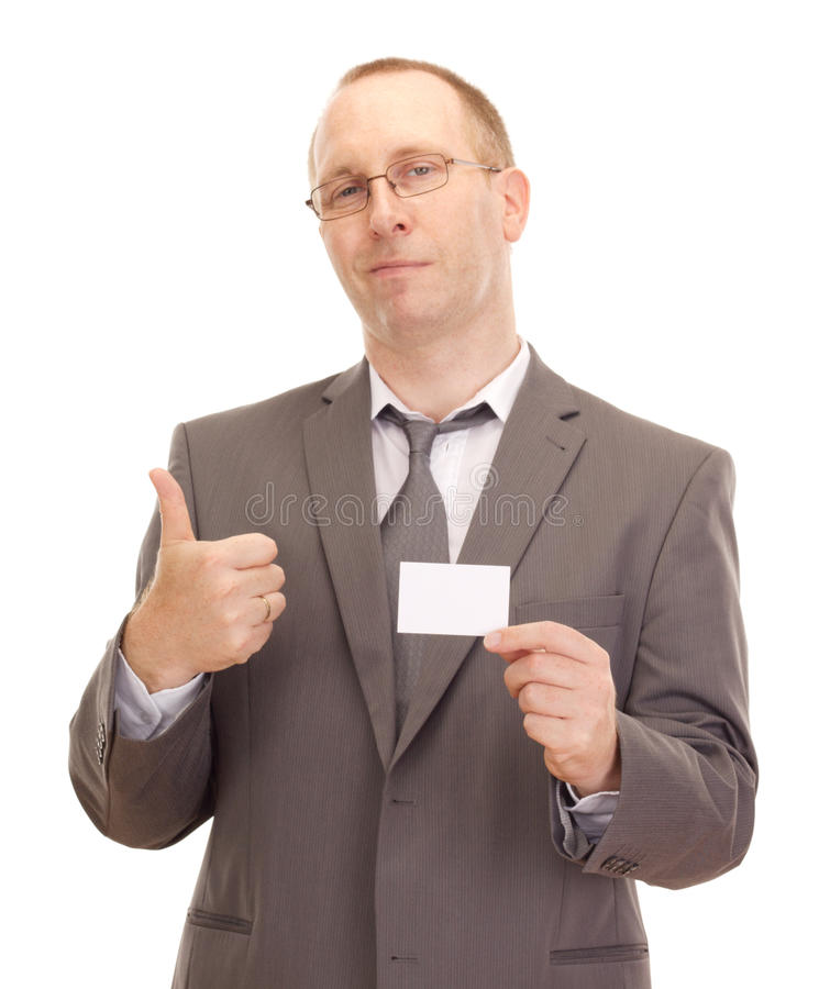 Download Business Person Showing Visiting Card Stock Photo - Image of office, agent: 26586502