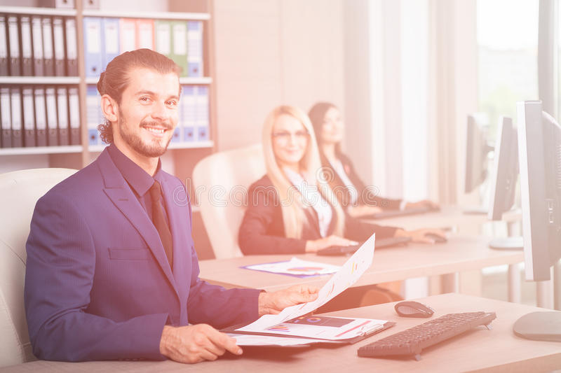 Business person working in office royalty free stock photos