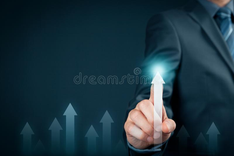 Business and personal growth concept stock images