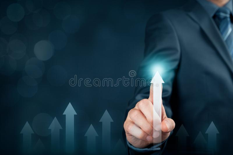 Business and personal growth concept stock photo
