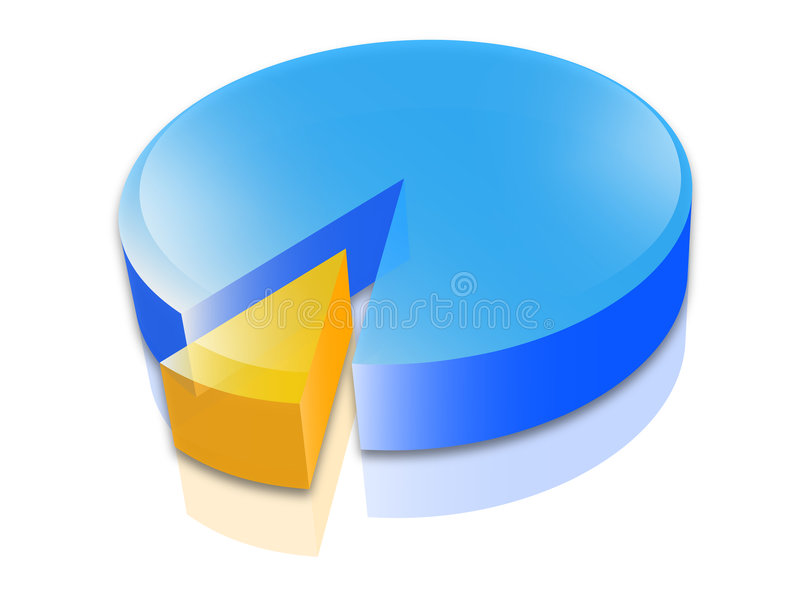 Business pie chart. Illustration of 3D colored pie chart