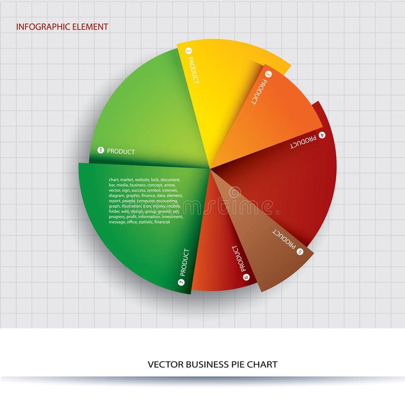 Business pie chart Paper Info graphics. stock illustration