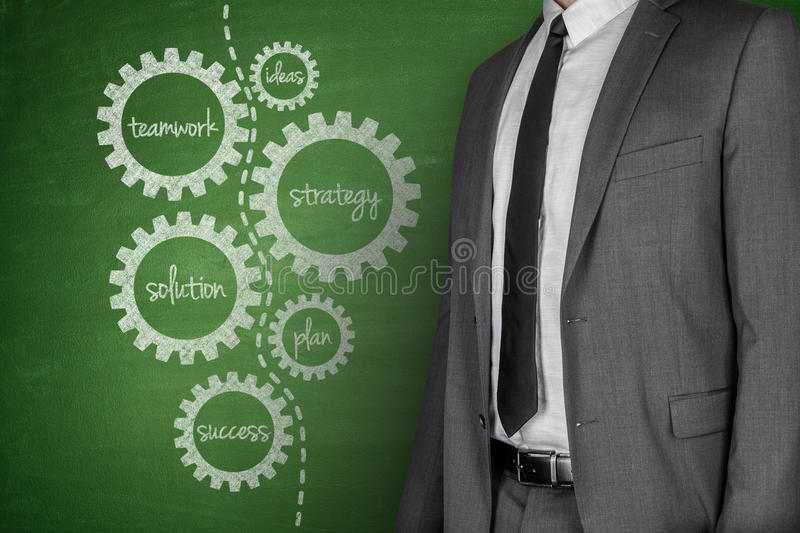 Business plan on Blackboard stock images