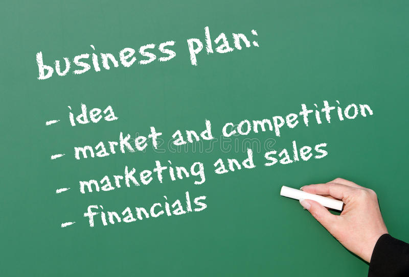 Download Business Plan On Chalkboard Stock Photos - Image: 18668293