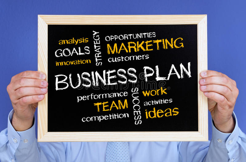 Download Business Plan On Chalkboard Stock Photo - Image: 25620802