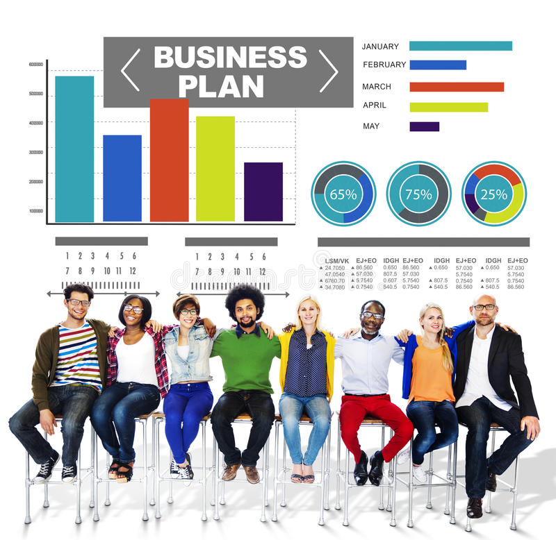 Business plan graph brainstorming strategy idea info concept.  royalty free stock photos