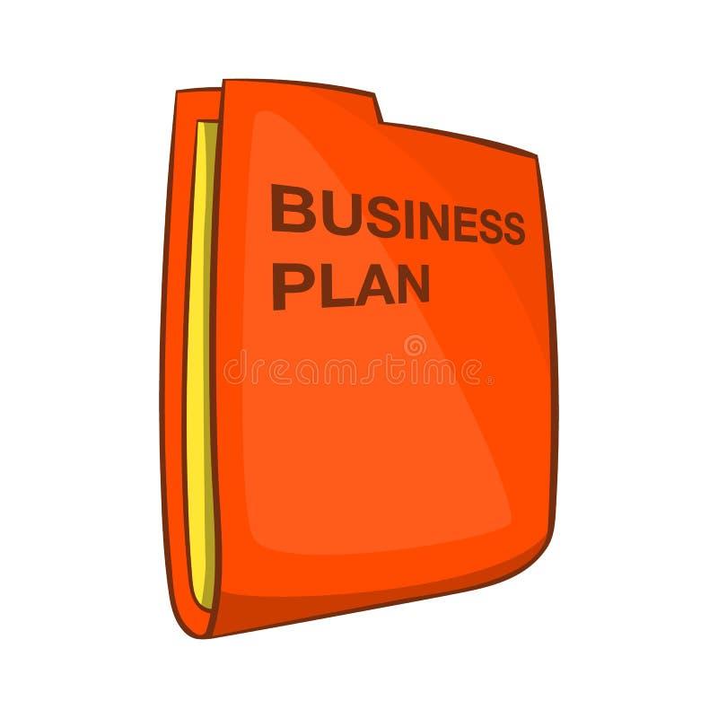 Business plan icon, cartoon style vector illustration