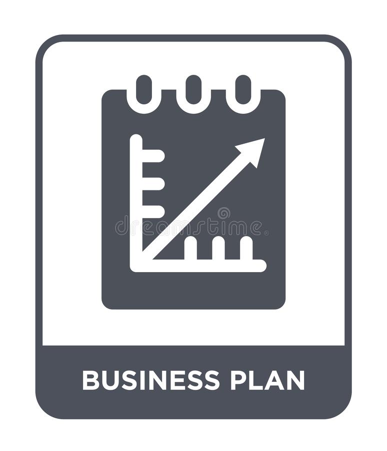 business plan icon in trendy design style. business plan icon isolated on white background. business plan vector icon simple and royalty free illustration
