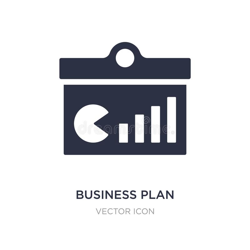 business plan icon on white background. Simple element illustration from Business and analytics concept vector illustration