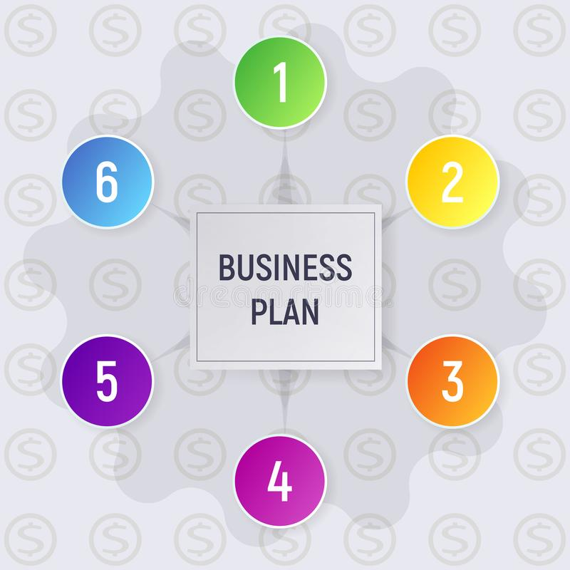 Business plan infographics. royalty free illustration