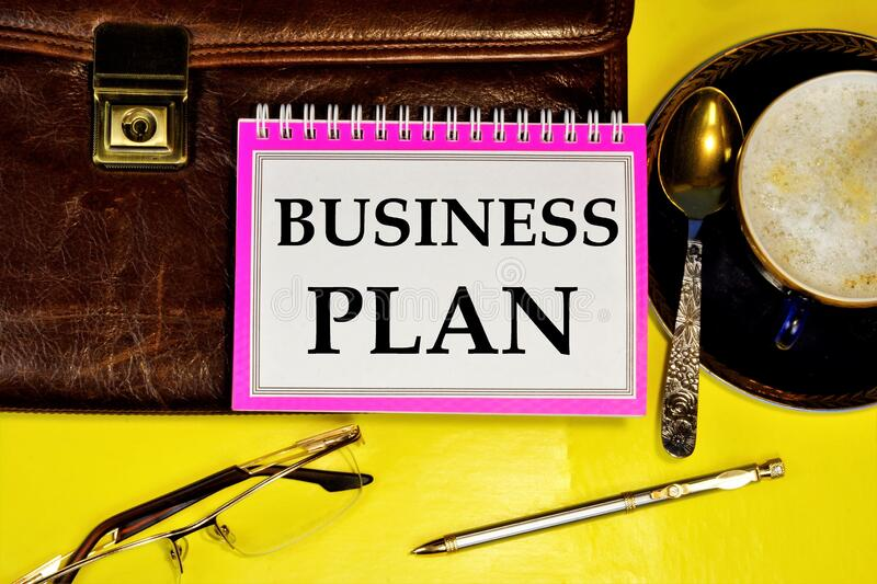 A business plan is a long-Term plan for future actions, a set of measures, and the development of a method for achieving the goal. Of a stable long-term stock photography