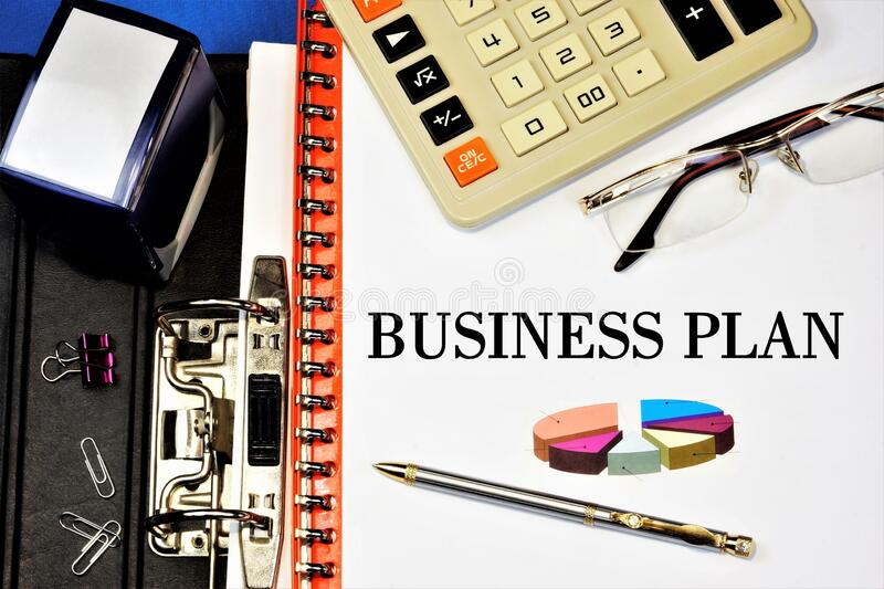 A business plan is a long-Term vision, working on projects, ideas, and developing a method for achieving the goal of a stable. Competitive financial advantage stock image