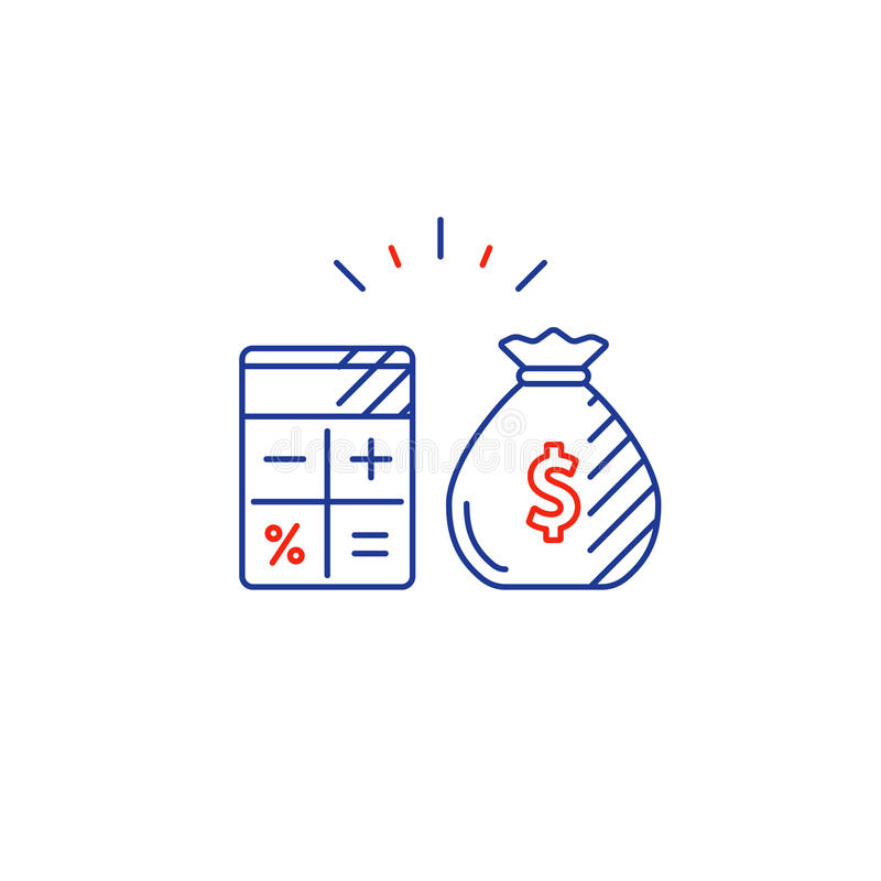 business plan pay expenses calculate budget spending line icon