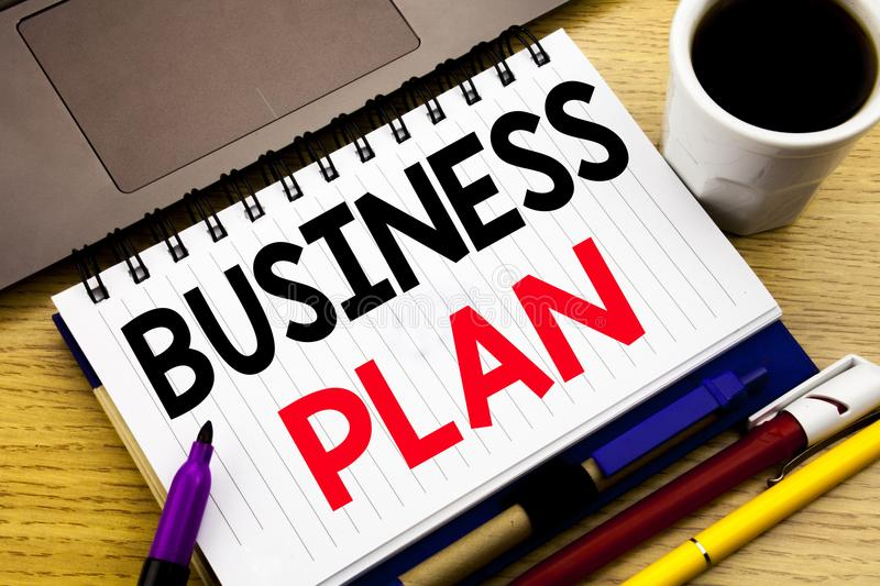 Business Plan Planning. Business concept for Preparation Project Strategy written on notebook book on the wooden background in the. Business Plan Planning royalty free stock photo