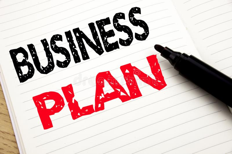Business Plan Planning. Business concept for Preparation Project Strategy written on notebook with copy space on book background w. Business Plan Planning royalty free stock images