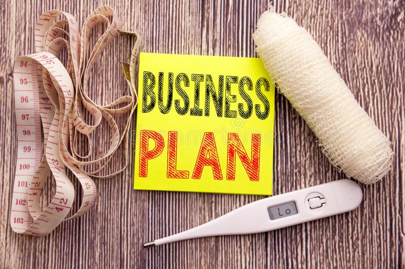 Business Plan Planning. Business fitness health concept for Preparation Project Strategy written sticky note empty paper backgroun. Business Plan Planning royalty free stock image