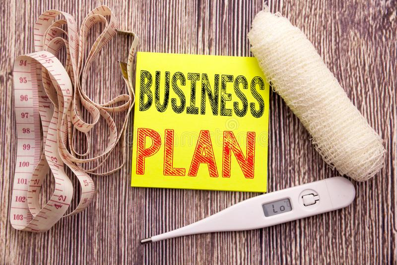 Business Plan Planning. Business fitness health concept for Preparation Project Strategy written sticky note empty paper backgroun. Business Plan Planning stock image