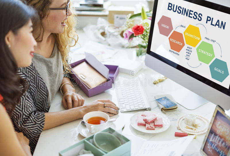 Business Plan Planning Strategy Solution Vision Concept. Business Plan Planning Strategy Solution Vision stock images