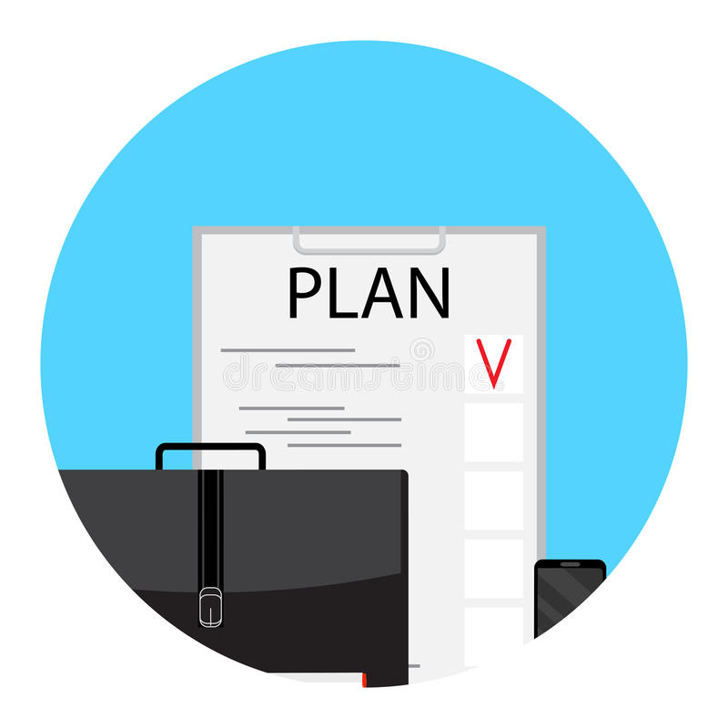 Business plan and project vector illustration