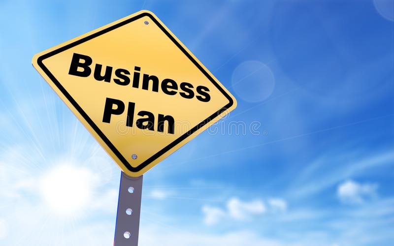 Business plan sign stock photo