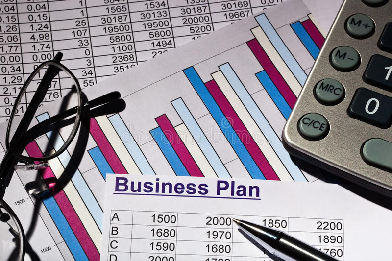 Business plan royalty free stock images