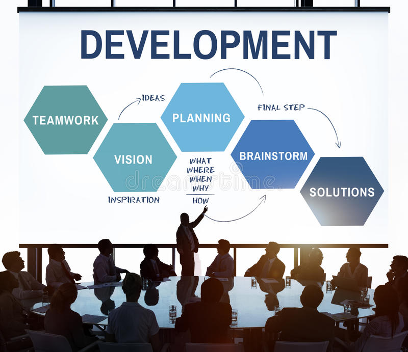 Business Plan Strategy Development Process Graphic Concept. Business Plan Strategy Development Process Graphic royalty free stock image