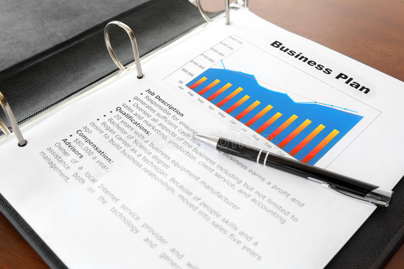 Business Plan On The Table Royalty Free Stock Photo