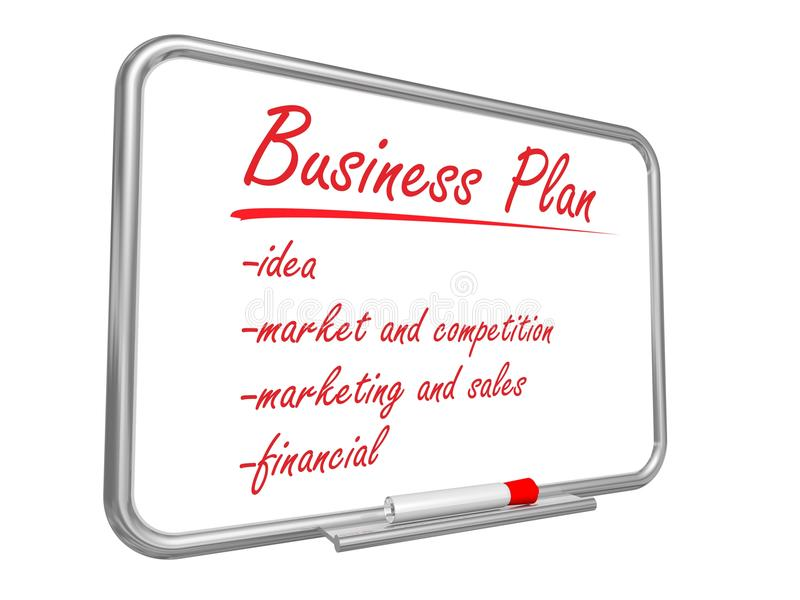 Business Plan stock illustration