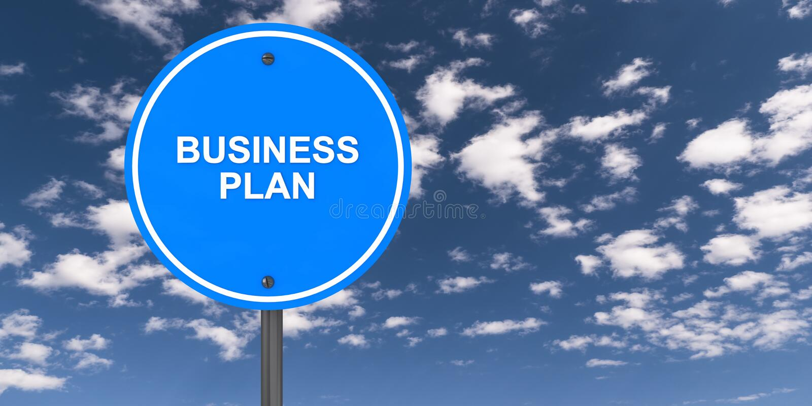 Business plan traffic sign stock photo
