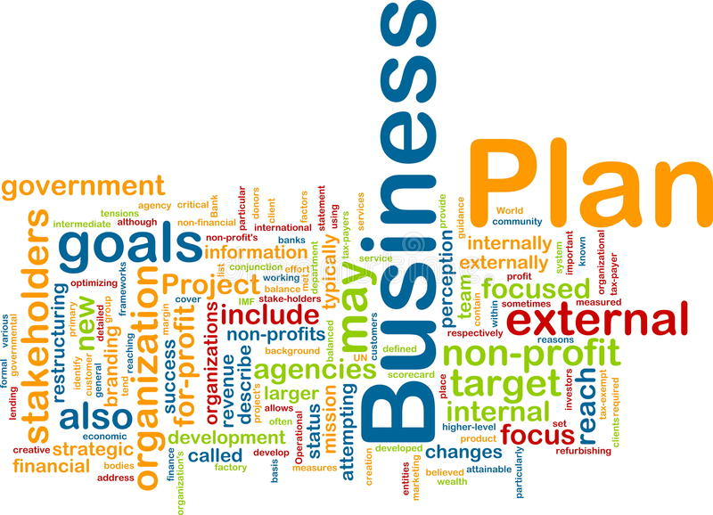Business plan word cloud vector illustration