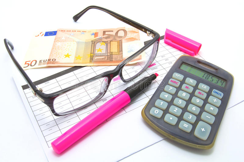 Business Plan. Write a business plan, calculate the necessary amount of money stock photo